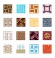 Floor materials flat icons tiles vector image