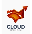 Modern cloud logo vector image