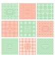 Pattern seamless tiled ornament geometric frame vector image