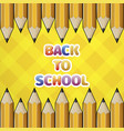 pattern yellow pencil and colored text back to vector image