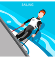 Sailing Race 2016 Summer Games Isometric 3D vector image