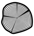 wood texture of wavy ring pattern from a slice of vector image