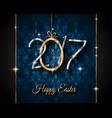 happy 2017 easter modern and elegant background vector image
