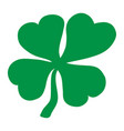 Lucky irish clover for st patricks day vector image