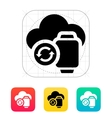 Smart watches sync with cloud icon vector image