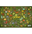 Camping nature symbols and objects vector image