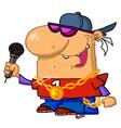 Rapper Dude Singing vector image