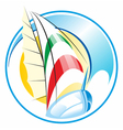 boat ship logo vector image