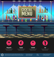 Flat style interior of cocktail bar vector image