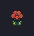 flowers computer symbol vector image