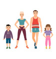 happy family in sport style clothes vector image