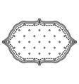 retro romantic emblem icon vector image
