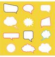spech bubbles collection fun cartoon style vector image