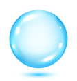 Big opaque light blue sphere vector image
