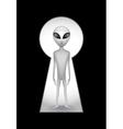 alien keyhole vector image vector image