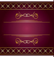 violet background with golden decorative ornaments vector image
