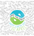 happy earth earth smile happy earth day 22 vector image vector image