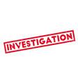 investigation rubber stamp vector image