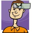 clever guy cartoon vector image