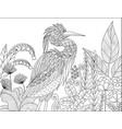 gray heron vector image vector image