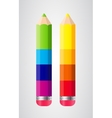 Pencils Isolated on White Background vector image vector image