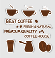 Design coffee vector image