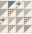 The patchwork quilt in shabby chic style from vector image
