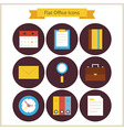Flat Business and Office Icons Set vector image vector image