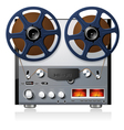 analog stereo reel to reel tape deck vector image vector image