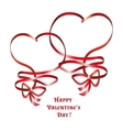 heart ribbon bow vector image