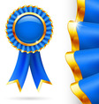 Blue award ribbon vector image