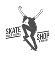 vintage biking and skating badge logotype vector image