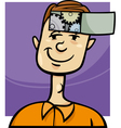 clever guy cartoon vector image