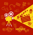 digital red yellow cinema vector image