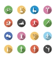 f isolated sport icons in flat design with long vector image