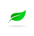 Green leaf symbol vector image