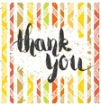Handwritten inscription Thank you vector image
