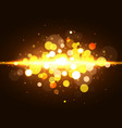 Magic bokeh background with light effect Gold vector image