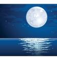moonlit vector image