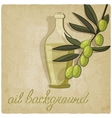 olive branch background vector image