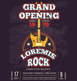 retro opening rock music club shop sound record vector image