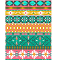 Seamless colorful aztec pattern with birds vector image