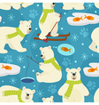 seamless pattern polar bear vector image