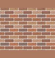 seamless pattern red brick wall vector image