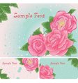 Set of floral card with pink roses vector image