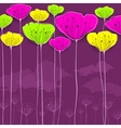 Stylized flowers card vector image vector image