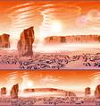 martian wind storms vector image