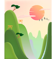 asian landscape vector image
