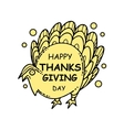 collection thanksgiving card vector image