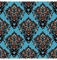 ethnic tribal damask seamless pattern background vector image